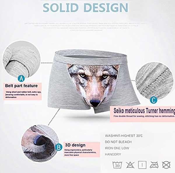 3D Printed Wolf Underwear